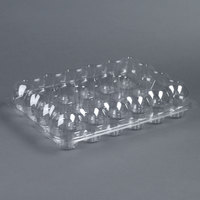 24 Compartment Clear High Dome Cupcake Container   - 10/Pack