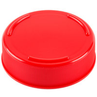 Tablecraft 53FCAPR Solid Red End Cap for Inverted or Squeeze Bottles with a 53 mm Opening - 12/Pack