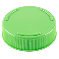 Tablecraft 53FCAPLGN Solid Light Green End Cap for Inverted or Squeeze Bottles with a 53 mm Opening - 12 / Pack