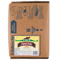 Fox's Bag In Box Cherry Cola Beverage / Soda Syrup - 5 Gallon