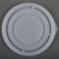 Dinex DX21359000 Translucent Disposable Lid for Aladdin 8 oz. Bowl - 1000 / Case