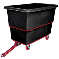 Rubbermaid FG472741BLA Black 27 Cu. Ft. Towable Trainable Utility Cube Truck (1200 lb.)