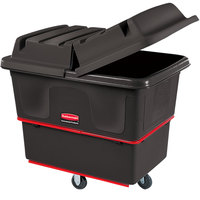 Rubbermaid FG471600BLA Black 16 Cu. Ft. Utility Cube Truck (1000 lb.)