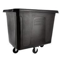 Rubbermaid FG461600BLA Black 16 Cu. Ft. Bulk Cube Truck (500 lb.)