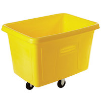 Rubbermaid FG461400YEL Yellow 14 Cu. Ft. Bulk Cube Truck (500 lb.)