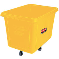 Rubbermaid FG460800YEL Yellow 8 Cu. Ft. Bulk Cube Truck (300 lb.)