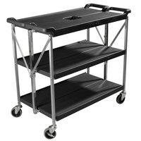 Carlisle SBC203103 Fold 'N Go 20 inch x 31 inch Black Folding Utility Cart