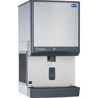 Follett 25CI425W-SI Symphony Countertop Water Cooled Ice Maker / Dispenser - 25 lb.