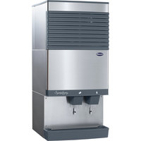 Follett 110CT425W-S Symphony Countertop Water Cooled Ice Maker and Water Dispenser - 90 lb.