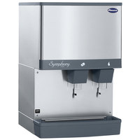 Follett 110CM-NI-L Symphony Plus Series 110 lb. Manual Fill Countertop Ice and Water Dispenser with Lever Dispensing