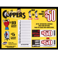 Coppers 1 Window Pull Tab Tickets - 156 Tickets Per Deal - Total Payout: $105