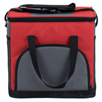 Choice Insulated Cooler Bag / Soft Cooler, Red 12 inch x 9 inch x 11 1/2 inch, with Adjustable Shoulder Strap