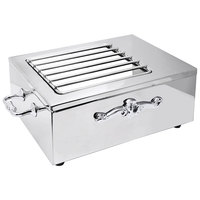 Eastern Tabletop 3265G-SS Stainless Steel Single Butane Stove Cover-Up with Grates