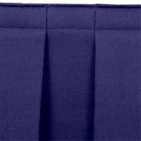 National Public Seating SB24-48 Navy Box Stage Skirt for 24 inch Stage - 48 inch Long