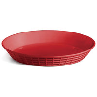 Tablecraft 137512R 12 inch Red Plastic Diner Platter / Fast Food Basket - 12/Pack