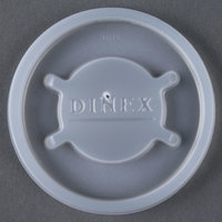 Dinex DX20019000 Translucent Disposable Lid for Cambro Newport 5 oz. Tumbler, Cambro LT6 6 oz. Laguna Tumbler, and Cambro NT5 6.4 oz. Newport Tumbler - 1500 / Case