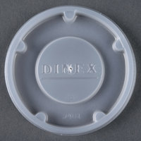 Dinex DX24019000 Translucent Disposable Lid for Carlisle 5505 Pebble Optic 5 oz. Tumbler, Cambro HT5CW Camwear Huntington 5 oz. Squat Tumbler, and GET 8805-1-CL Spektrum 5 oz. SAN Tumbler - 1500 / Case