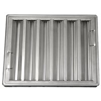 All Points 26-1776 20 inch x 25 inch x 2 inch Stainless Steel Hood Filter - Ridged Baffles
