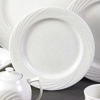 CAC GAD-20 Garden State 11 1/4 inch Bone White Round Porcelain Plate - 12/Case