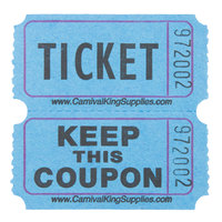 Carnival King Blue 2-Part Raffle Tickets   - 2000/Roll