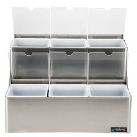 San Jamar B6706INL EZ-Chill Stepped Condiment Center with 6 Trays