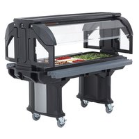 Cambro VBRL5110 Black 5' Versa Food / Salad Bar with Standard Casters - Low Height