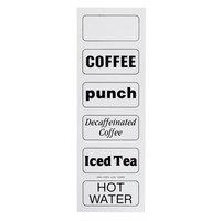 Cambro 13200 Large Label for Beverage Dispensers - 6/Set
