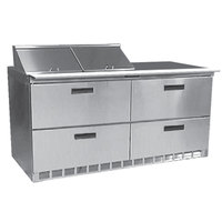Delfield D4460N-12 60 inch Salad Prep Refrigerator with Four Drawers