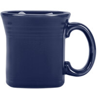 Homer Laughlin 923105 Fiesta Cobalt Blue 13 oz. Square Mug - 12/Case
