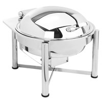 Eastern Tabletop 3958S 6 Qt. Round Stainless Steel Chafer with Stand and Hinged Dome Cover