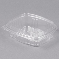 Genpak AD08F 5 3/8 inch x 4 1/2 inch x 2 inch 8 oz. Clear Hinged Deli Container with High Dome Lid - 100/Pack
