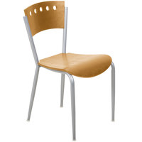 Lancaster Table & Seating Natural Finish Cafe Chair