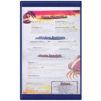 Menu Solutions K22D BLUE K22-Kent 8 1/2 inch x 14 inch Single Panel / Double-Sided Blue Menu Board