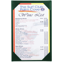 Menu Solutions K111A GREEN The Kearny Series 5 1/2 inch x 8 1/2 inch Single Panel / Double-Sided Green Menu Board