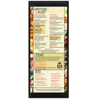 Menu Solutions K22BA BLACK K22-Kent 4 1/4 inch x 11 inch Single Panel / Double-Sided Black Menu Board