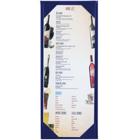 Menu Solutions K111BA BLUE The Kearny Series 4 1/4 inch x 11 inch Single Panel / Double-Sided Blue Menu Board