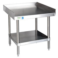 Regency 16 Gauge 24 inch x 30 inch All Stainless Steel Equipment Stand with Undershelf