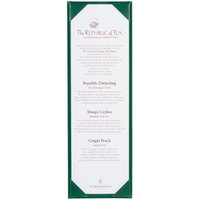 Menu Solutions K111BD GREEN The Kearny Series 4 1/4 inch x 14 inch Single Panel / Double-Sided Green Menu Board