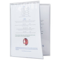 Menu Solutions CHS800D 8 1/2 inch x 14 inch Quad Booklet / Eight View Clear Heat Sealed Menu Cover - 12/Pack