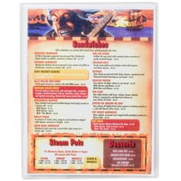 Menu Solutions CHS100B 7 inch x 11 inch Single Panel / Two View Clear Heat Sealed Menu Cover - 12/Pack