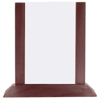 Menu Solutions WPF4S-B 5 inch x 7 inch Mahogany Wood Table Tent