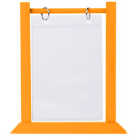 Menu Solutions WFT4S-B 5 inch x 7 inch Mandarin Wood Flip Top Table Tent