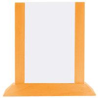 Menu Solutions WPF4S-B 5 inch x 7 inch Mandarin Wood Table Tent