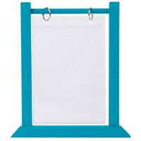 Menu Solutions WFT4S-B 5 inch x 7 inch Sky Blue Wood Flip Top Table Tent