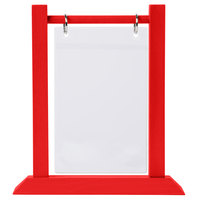 Menu Solutions WFT4S-A 4 inch x 6 inch Berry Wood Flip Top Table Tent
