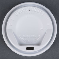 Dart Solo LGX8R1-0007 8 oz. White Dome Sip-Thru Hot Cup Lid - 1000/Case