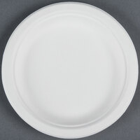 EcoChoice Biodegradable, Compostable Sugarcane / Bagasse 6 inch Plate - 1000 / Case
