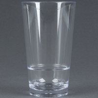 GET S-17-CL Revo 16 oz. SAN Plastic Stackable Pint Glass - 24 / Case