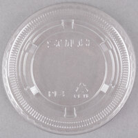 Dart Solo Conex PL4N Clear Plastic Souffle / Cup Lid 2500 / Case