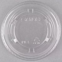 Dart Solo Conex PL4N Clear Plastic Souffle / Cup Lid - 2500/Case